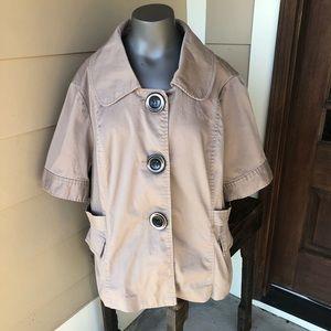 Cato khaki jacket size 22